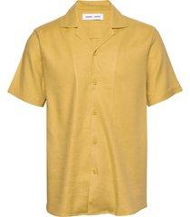 einar sx shirt 11050 kortärmad skjorta gul samsøe samsøe
