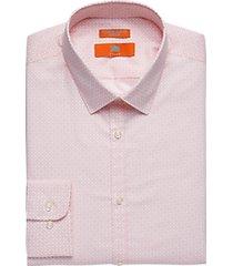 egara orange extreme slim fit dress shirt pink pattern