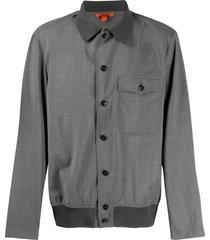 barena long sleeve overshirt jacket - grey