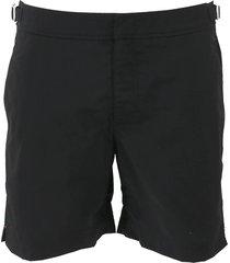 bulldog black mid-length swim shorts