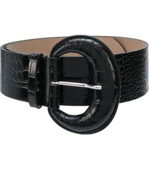 b-low the belt embossed crocodile-effect belt - black
