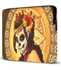 capa para notebook isoprene caveira mexicana 15 polegadas feminina