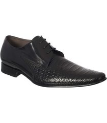 zapato formal pierre d'agostiny con textura tejida en cuero