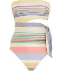 mae scarf tie one piece in multi stripe