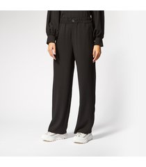 ganni women's clark trousers - black - eu 42/uk 14 - black