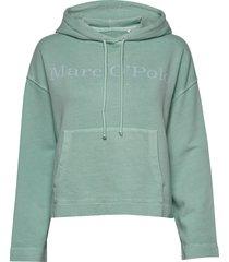 sweatshirt, long sleeve, hooded, pa hoodie grön marc o'polo