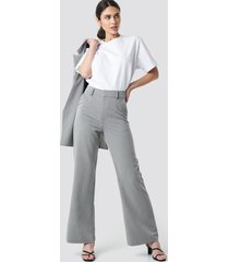na-kd classic two tone striped suit pants - grey