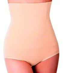 calça cinta modeladora corporal slim redutor de medidas cintura bege