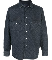 levi's: made & crafted quilted western jacket - blue