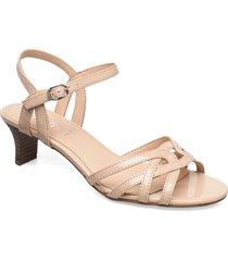 formal shoes others sandal med klack brun esprit casual