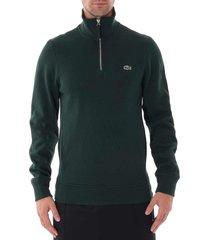 lacoste half zip sweatshirt - green sh8891