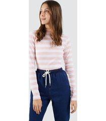 camiseta mujer franjas gruesas color rosado, talla l