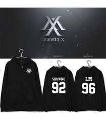 kpop monsta x the clan part.2 guilty zipper hoodie unisex jooheon sweatershirt