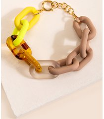 women's alanna chunky linked bracelet in multi by francesca's - size: one size
