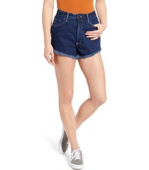 lee high waist cutoff shorts, size 27 in kansas blue at nordstrom