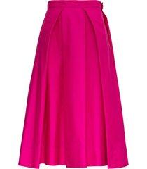 marni long fuchsia cotton skirt
