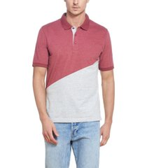 men's color block brushed jersey polo t-shirt