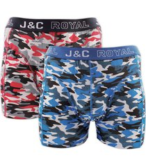 j&c heren boxer 2 pak 30050-s