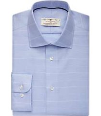 joseph abboud voyager pale blue plaid dress shirt