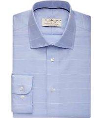 joseph abboud voyager pale blue plaid dress shirt
