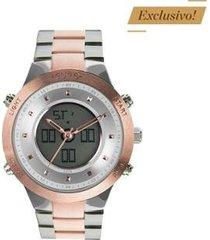 relógio euro sporty lux bicolor feminino - feminino