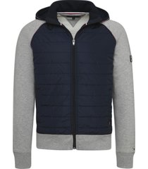 buzo mixed media hooded zip through gris tommy hilfiger