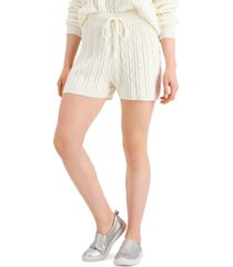 hooked up by iot juniors' cable-knit sweater shorts