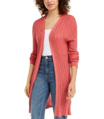 hooked up by iot juniors' ribbed open-front cardigan