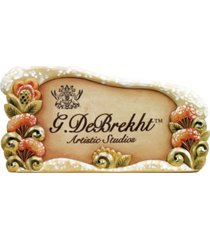 g.debrekht display counter case plaque
