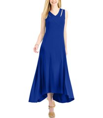 jm collection crossover-front maxi dress, created for macy's