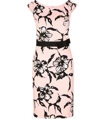 lichtroze zwart geprinte dames jurk s. oliver - 01.899.82.4636