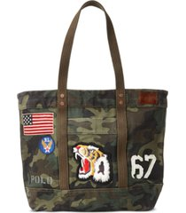 polo ralph lauren men's cotton canvas camo tote