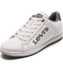 tenis lifestyle blanco-gris levis declan l