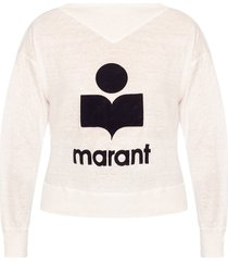 linen t-shirt with logo