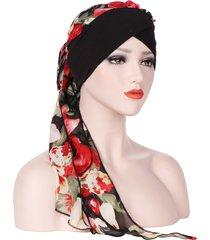 copricapo di cappelli elastico casual da donna in chiffon confortevole traspirante vintage da donna