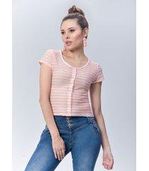 blusa dama rosado di bello jeans  calssic blouse ref b192