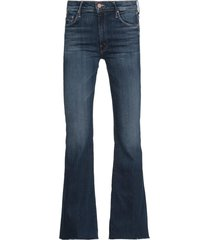 mother cotton flared jeans