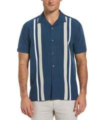 cubavera men's tri-color camp shirt