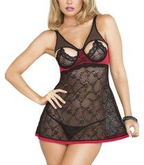 women's lace babydoll lingerie set