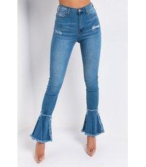 akira nouveau again high waisted flare jeans