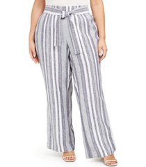 inc plus size front-tie wide-leg pants, created for macy's