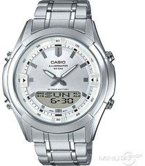 reloj analógico-digital hombre casio amw-840d-7a - plateado con blanco