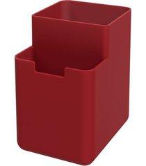 organizador de pia single 8x10,5x12,1cm vermelho bold - 17010/0465 - coza - coza