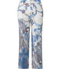 7/8-broek model olessa van 100% linnen van raffaello rossi blauw