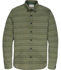 overhemd cast iron groen gestreept horizontaal