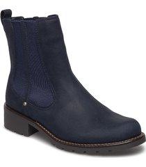 orinoco club stövletter chelsea boot blå clarks