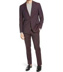 men's ted baker london roger extra trim fit solid wool suit
