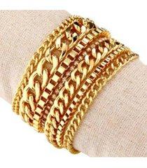 nicole miller multi-chain magnetic bracelet