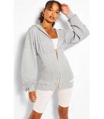 hoodie met korsetdetail in de taille, grijs