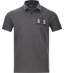 polo hombre anchors color gris, talla l